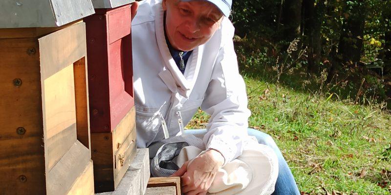 Imkerin der kleinen Schwarzwaldimkerei