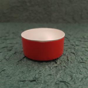 Aluschale in rot für Teelicht