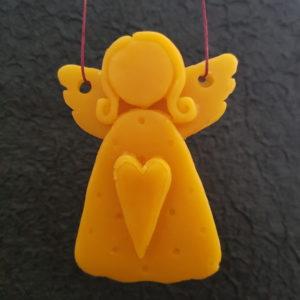 Engel aus reinem Bienenwachs